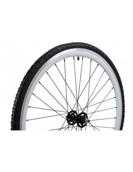Roue 700C avec pneu Cross country